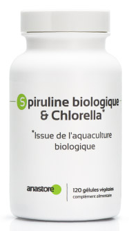 Chlorella et spiruline bio en gélules